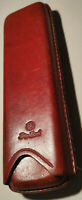 BIG BEN Vintage Double Corona Tan-Brown Leather Cigar Case