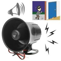 DC 12V Wired Loud Alarm Siren Horn Outdoor For Home Security Protection System