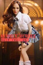 "1/6 Student School Girl Uniform Set For 12"" PHICEN Hot Toys Female Figure ☆USA☆"
