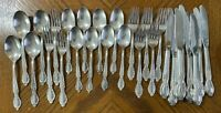 Wm Rogers & Son IS VICTORIAN ROSE Silverplate Flatware Lot of 28