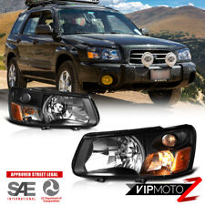 2003-2004 Subaru Forester XT XS [Factory Style] Headlights Lamps Replacement SET