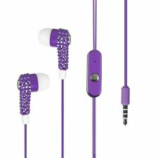 In-Ear 3.5mm Earphone Earbud with Mic - Purple Bling