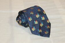 TOMMY BAHAMA Blue Pineapple Classic Woven 100% Silk Tie