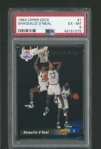 1992 Upper Deck Shaquille O'Neal Magic #1 RC Rookie Card PSA 6 EX-NM Hot! JC