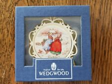 "Wedgwood White Jasperware - ""Peter Rabbit"" - Christmas Ornament - Nib"
