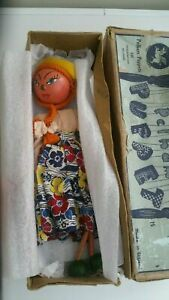 PELHAM PUPPET VERY RARE EARLY GIRL BROWN BOXED ^^^^^^^^