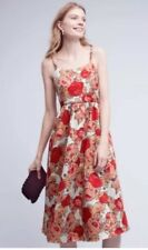 New Anthropologie Red Rose Dress by Rachel Antonoff sz 6P Floral Jacquard $298