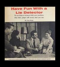 POLYGRAPH / LIE DETECTOR Vintage 1957 How-To build PLANS