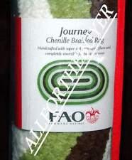 Fao Schwarz Journey Green White Oval Safari Soft Chenille Area Floor Rug Nip