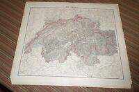 Carl Flemming Map of Switzerland (circa 1850) Map in German.