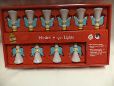 NEW-Lighted Musical Angel LED Light Set-Sound Activated-Battery Opoerated