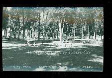 Nice RPPC Band Stand in City Park Chatfield MN  1940's Cars    B582