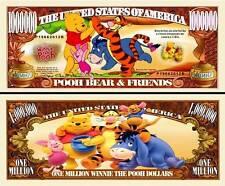 WINNIE BOURRIQUET TIGROU BILLET MILLION DOLLARS! Collection Disney Dessin animé