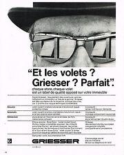 PUBLICITE  1966   GRIESSER    volets stores