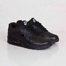 Nike Air Max 90 Black Croc Patent Trainer 443817 003 Size 8.5 UK