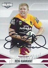 ✺Signed✺ 2013 BRISBANE BRONCOS NRL Card BEN HANNANT