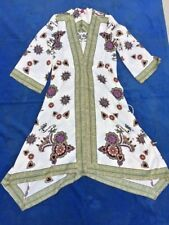 SALE @ Brand New RUBBER DUCKY Boutique Kimono Chinese Floral Dress Women Sz L