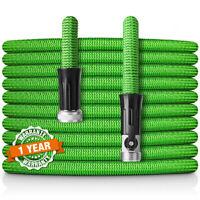 Latex Expandable Garden Hose 50FT Upgraded,Flexible Lightweight Water Hose