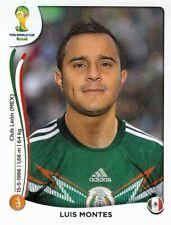 Panini Sticker Fußball WM 2014 Nr. 82 Luis Montes Mexico Bild NEUWARE Worldcup