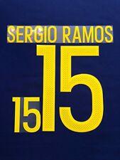 2017 SPAIN NATIONAL TEAM  #15 SERGIO RAMOS HOME NAME SET