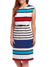 ILE New York Striped Colorful Dress US10= AU12-14