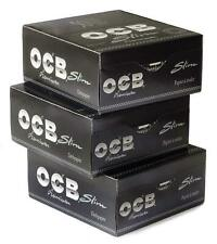 OCB SLIM Rolling Paper PREMIUM King Size Skins 3 boxes x 50 Booklets Each **NEW