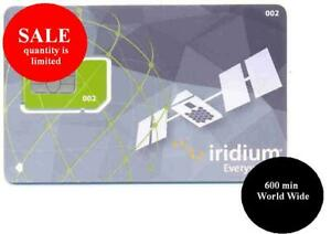 SIM Card Iridium Prepaid 600 min world wide