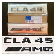 New Mercedes CLA45 AMG Badge Emblem Decals New Style Gloss Black Uk Seller 🇬🇧