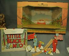 Rare vtg old Playette Moving picture theater theatre Little Black Sambo book