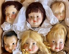 Rare Hard To Find 6 Composition Famlee Doll Heads