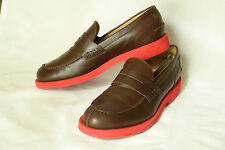 THOMAS DEAN * ITALY * CLASSIC PENNEY LOAFER IN BROWN CALF * 41.5 * SUPERB
