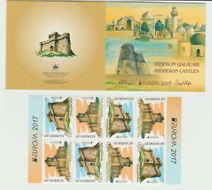 s37069 Azerbaijan EUROPA CEPT MNH** 2017 Booklet CASTELLI