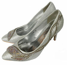 Zapatos de Novia Plata con Brillo Piedrecita Súper Modern P606