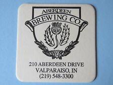 Rare Beer Coaster ~ ABERDEEN Brewing Co ~ Valparaiso, INDIANA ** From 2000-2004