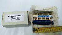 Matchbox Yesteryear Y15 Preston Tram Car Darlington Corporation blue labels Toy