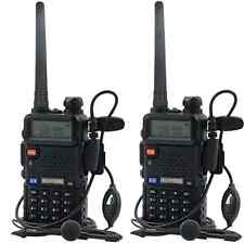 2X Baofeng UV-5R NEW Dual Band UHF/VHF Radio RF 5W OUTPUT NEW Version+EARPIECE