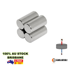4x Strong Cylinder 15mm X 30mm Neodymium Rare Earth Magnets N35 | Rod Disc Disk