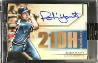 MLB Card 2020 Robin Yount Topps Luminaries Hit Kings Auto Blue Parallel 3/5