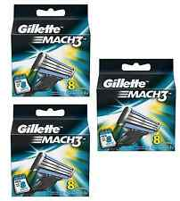 Gillette Mach3 Mach 3 Refill Razor Blades Pack of 24 (3 Packs of 8)