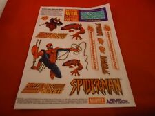 Spider-Man Nintendo 64 N64 Promotional Sticker Sheet
