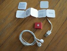 Apple iPod Shuffle 2.0 G with Accessories and Instructions (Rare RED Color)