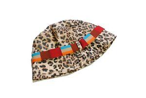 authentic BOGNER Leopard pattern bucket hat Cap women's