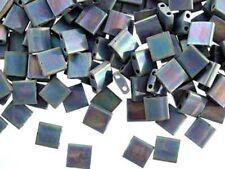 5g matt black AB two-hole TILA Miyuki beads - 5 x 5 x 1.9mm (tl401fr)