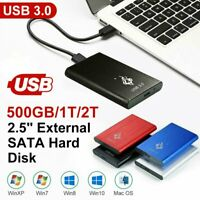 "2TB Ultra Slim 2.5"" External Hard Disk Drive USB 3.0 Data Transfer Portable HDD"