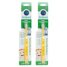 Brilliant Baby Toothbrush 2pk (Yellow) for Front Teeth (4-24 months)