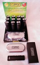12X Full Box W/ Display Clipper Rechargeable Electric ECO-LIGHTER With Cases