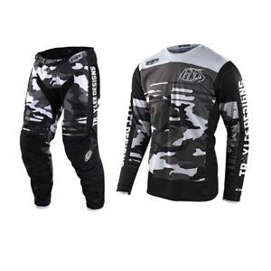Troy Lee Designs GP FORMULA CAMO Black/Gray Jersey Pant Combo
