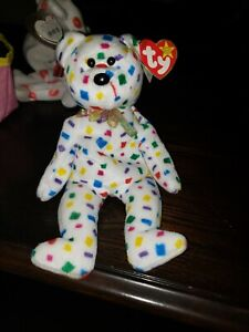 TY 2k Beanie Baby bear 1999 TAG ERRORS, extra colors, off center eyes