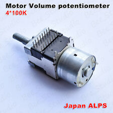 Japan Orignal ALPS motor Volume potentiometer 4*100K  Four Channel 100KAX4 RK168