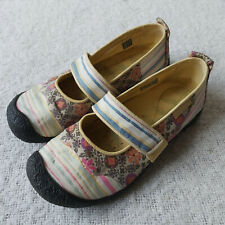 Keen Harvest Womens 8 US Mary Jane Shoes Floral Pastels 1005553 Walking Flats